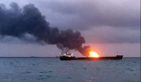 રશિયા: બે સમુદ્રી જહાજોમાં આગ લાગવાથી 14ના મોત, 15 ભારતીયો હતા ક્રૂનો હિસ્સો