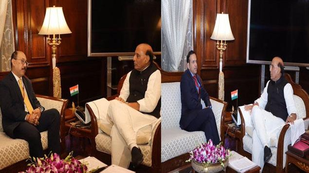 પાકિસ્તાનને ઘેરવાની તૈયારી, પાકિસ્તાન-અમેરિકાના ભારતીય રાજદૂતો સાથે રાજનાથસિંહની મુલાકાત