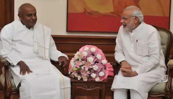નરેન્દ્ર મોદી ભારતને હિંદુ રાષ્ટ્ર બનાવવાની કોશિશ કરી રહ્યા છે : એચ. ડી. દેવેગૌડા