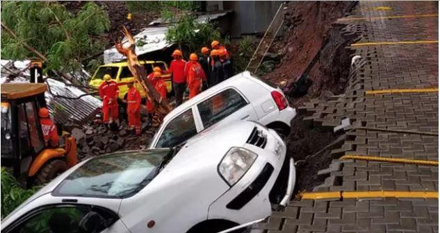 પુણે: ભારે વરસાદને કારણે સોસાયટીની દીવાલ ધ્વસ્ત, 4 બાળકો સહીત 15 લોકોના મોત