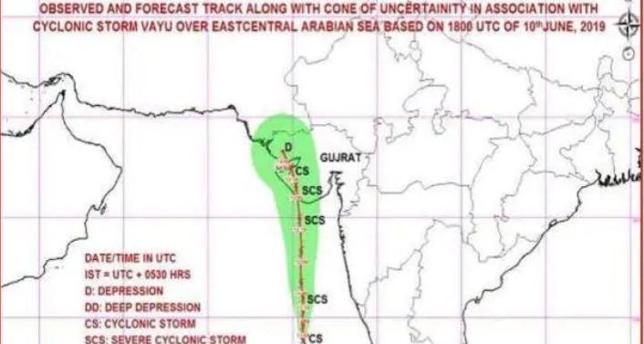 ગુજરાતમાં ચક્રવાત 'વાયુ'ને લઈને એલર્ટ, પાકિસ્તાનનો છૂટશે પરસેવો