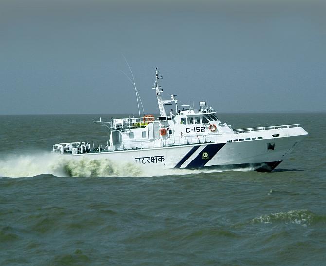 Indian Coast Guard rescues 12 crew of MV Kanchan in distress off Umargam, Gujarat